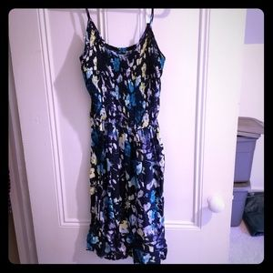 Sleeveless blue floral dress for juniors NWT